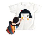 福笑いティーシャツ、横顔のミトン -LAUGH AND MAKE (ラフアンドメイク)-