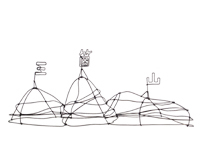 針金でつくる表札(のようなもの) -うらいまゆみ-